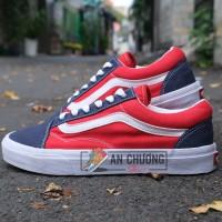 Giày Vans Old Skool Xanh Đỏ